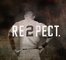 New York Yankee Derek Jeter Respect Print by Joann Vitali
