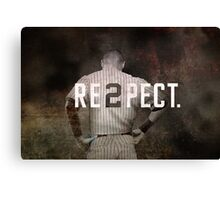 New York Yankee Derek Jeter Respect Print Canvas Print