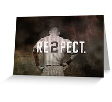 New York Yankee Derek Jeter Respect Print Greeting Card