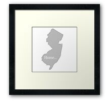 New Jersey Home Tee Framed Print