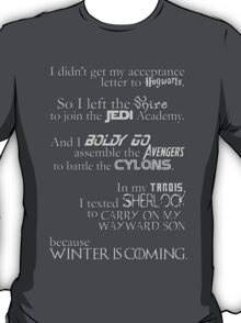 ALL the Fandoms T-Shirt