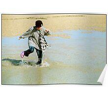 Sally Splashing Poster