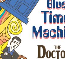 Blue Time Machine Sticker