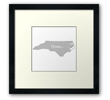 North Carolina Home Tee Framed Print