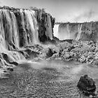 Iguazu Falls - a wider view - in monochrome by photograham