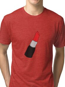 single red lipstick Tri-blend T-Shirt