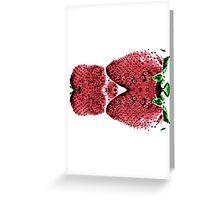 Neon  Strawberry / Fraises Neon Greeting Card