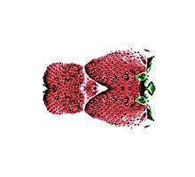 Neon  Strawberry / Fraises Neon Photographic Print