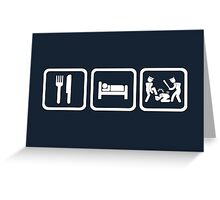 Eat Sleep Police Brutality Repeat Shirt Greeting Card