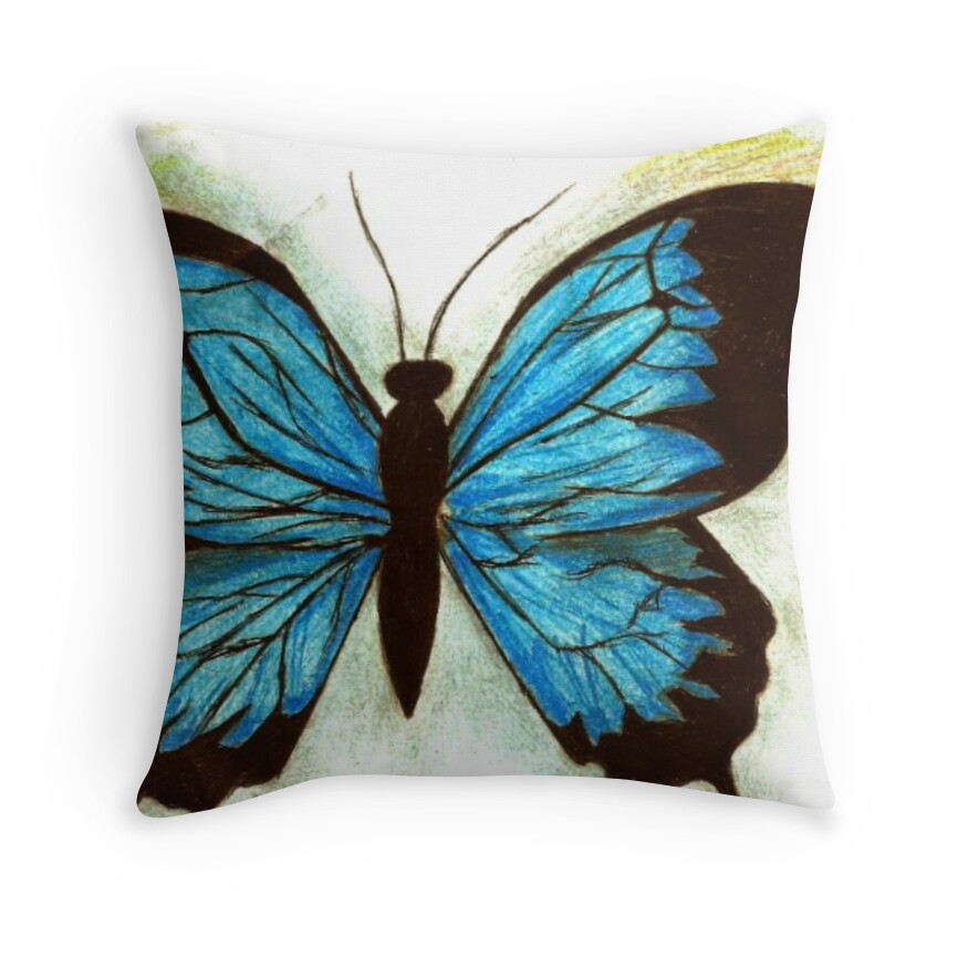 Throw Pillows With Butterfly :