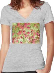 soft blossoms Women's Fitted V-Neck T-Shirt