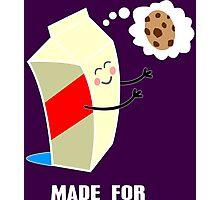Couple cute milk and cookies Funny Geek Nerd Photographic Print