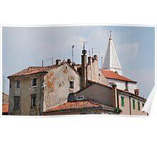 Buildings in Izola Poster