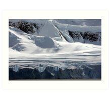 Antarctic glaciers Art Print