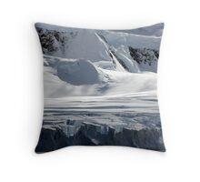 Antarctic glaciers Throw Pillow