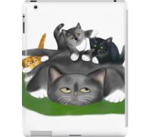 Tuckered Out Momma Cat iPad Case/Skin
