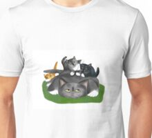 Tuckered Out Momma Cat Unisex T-Shirt