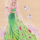 Springtime Elsa by CherryGarcia