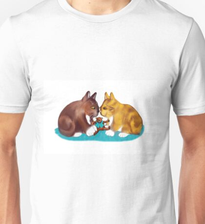Nose to Nose over the Teddy Bear Unisex T-Shirt