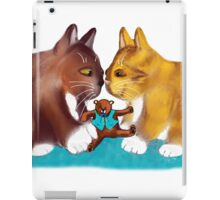 Nose to Nose over the Teddy Bear iPad Case/Skin