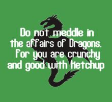 Do not meddle in the affairs of dragons for you are crunchy and good with ketchup Funny Geek Nerd T-Shirt