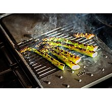 Griddled Asparagus Photographic Print