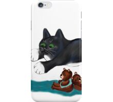 Kitten Jumps over Two Teddy Bears iPhone Case/Skin