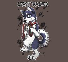 Leash Trained - Dark Blue Husky T-Shirt