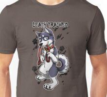 Leash Trained - Dark Blue Husky Unisex T-Shirt