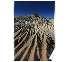 Eroded mountain Poster