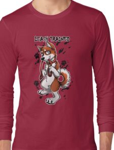 Leash Trained - Brown Husky Long Sleeve T-Shirt