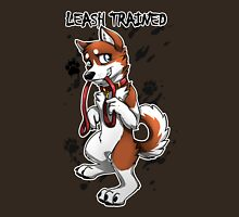 Leash Trained - Brown Husky Unisex T-Shirt