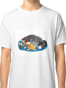 Three Kittens on Momma have a Cat Nap Classic T-Shirt
