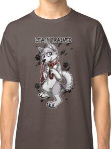 Leash Trained - Gray Husky Classic T-Shirt