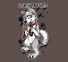 Leash Trained - Gray Husky Unisex T-Shirt