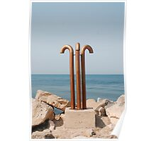 Showers at Slovenian Seafront Poster