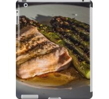 Grilled Asparagus With Oriental Steamed Salmon iPad Case/Skin