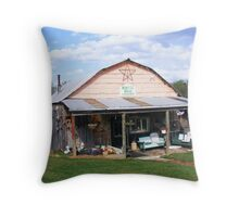 The Rustic Barn Restaurant Throw Pillow