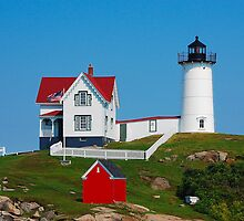 Nubble lighthouse by Scott A. Ray