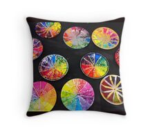 Rainbow Clocks Throw Pillow