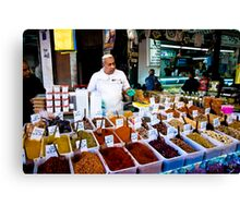 the friendly spice seller Canvas Print