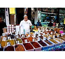 the friendly spice seller Photographic Print