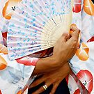 Geisha With Fan by ginaellen
