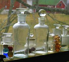 Mom's Glass Bottles by CynLynn