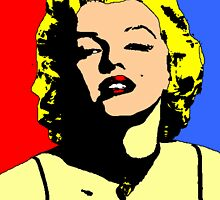 MARILYN MONROE-COLOURFUL by OTIS PORRITT