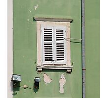 White Shutters, Piran Photographic Print