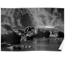 Base of the Falls - in Monochrome Poster