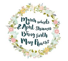 May Flowers brush script Photographic Print