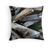 Wood stack Throw Pillow