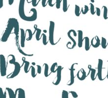 May Flowers brush script Sticker